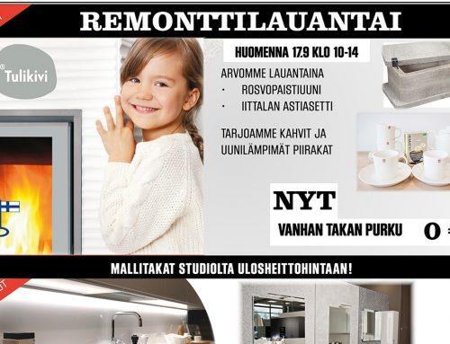 Remonttilauantai Seinäjolla 17.9.2016 klo 10-14