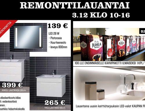 Remonttilauantai House2 myymälässä 3.12.2016